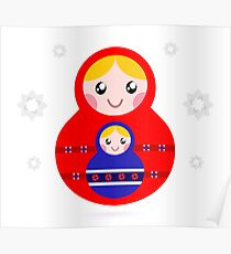 Russian nested dolls, also known as Matryoshka Poster