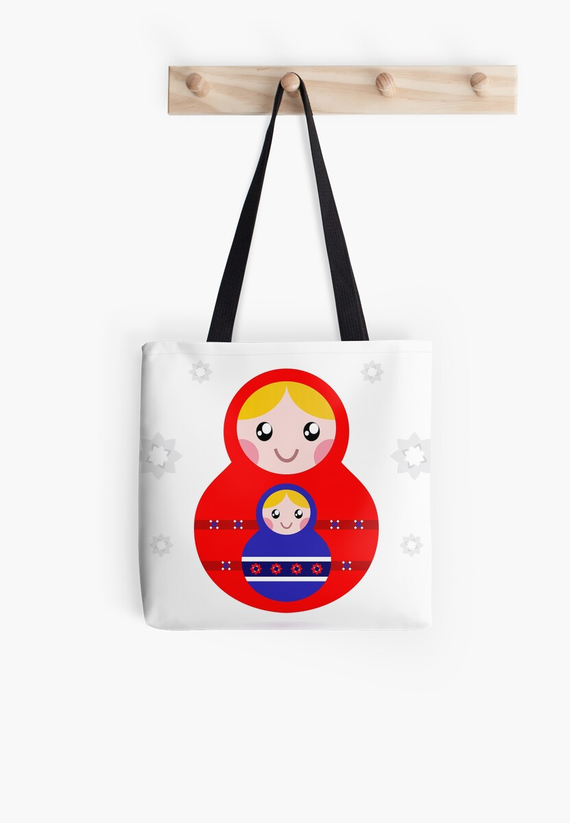 Russian nested dolls, also known as Matryoshka by Bee and Glow Illustrations Shop