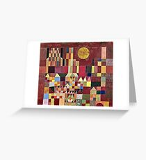Paul Klee - Castle And Sun  Greeting Card