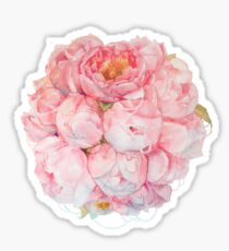 Tender watercolor bouquet of peonies  Sticker