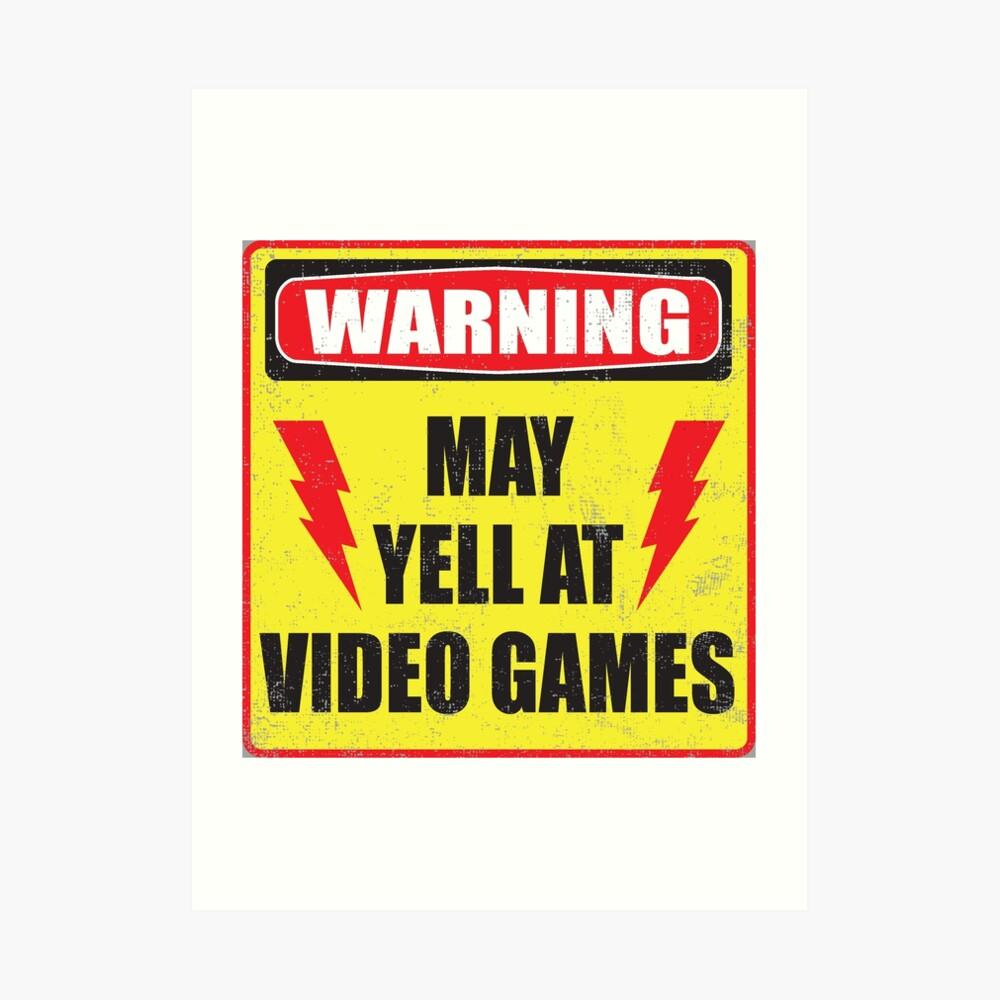 Spielerwarnung Kunstdruck