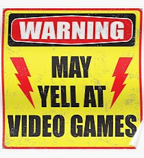 Gamer Warning Poster