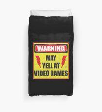 Gamer Warning Duvet Cover