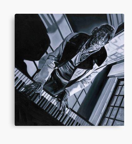 Blues piano  Canvas Print