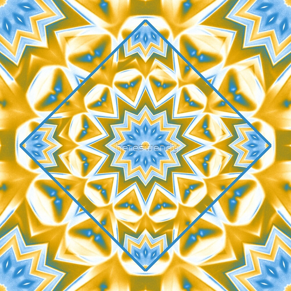 Blue and Gold kaleidoscope by hereswendy