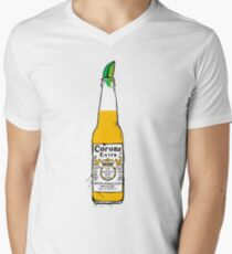 Camiseta para hombre de cuello en v Cerveza