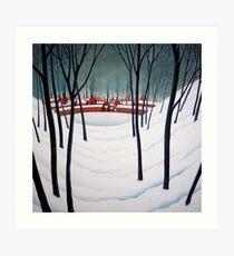 Potteries Winter Art Print