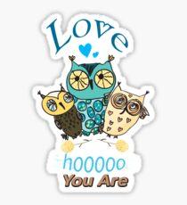 Three Little Owls Sticker
