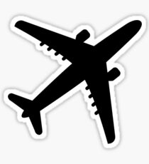 Airplane Jet Sticker