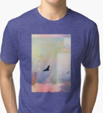Abstract Soaring Hawk Tri-blend T-Shirt
