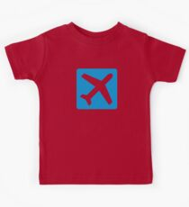 Blue airplane icon Kids Tee