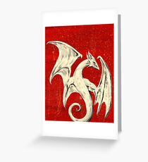 White Dragon Greeting Card