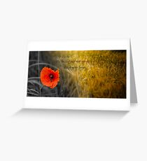 The fields of gold - rememberance Greeting Card