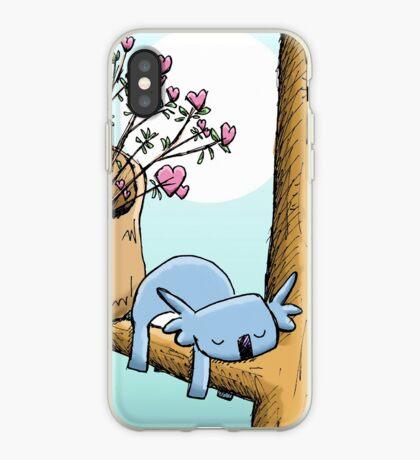Cute Sleeping Koala and Father Christmas iPhone Case