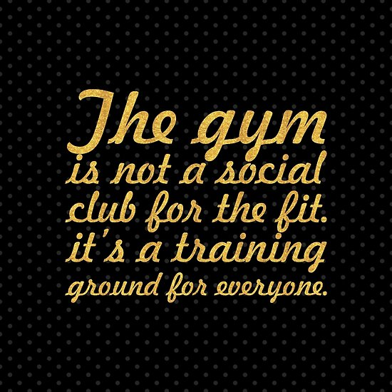 The gym is not a... Gym Motivational Quote (Square) by Powerofwordss