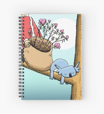 Cute Sleeping Koala and Father Christmas Spiral Notebook