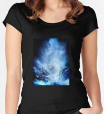 Jon Snow and Ghost - Game of thrones - Winter is here Women's Fitted Scoop T-Shirt