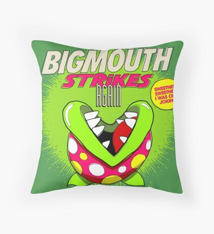 The 80's 8-bit Project - The Big Mouth Throw Pillow