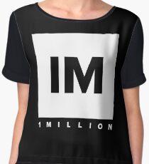 1 MILLION Dance Studio Logo (White Version) Chiffon Top