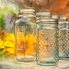 Sunflowers and Jars by Lois  Bryan
