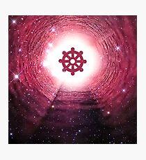 Buddhism (Wheel of Dharma) (Square) Photographic Print