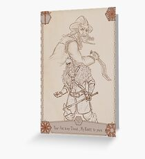 Axes and Knives Greeting Card