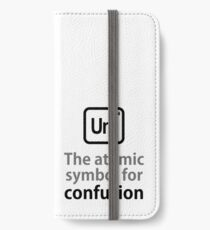 Atomic Symbol for Confusion iPhone Wallet/Case/Skin