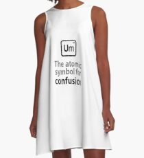 Atomic Symbol for Confusion A-Line Dress