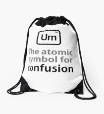 Atomic Symbol for Confusion Drawstring Bag