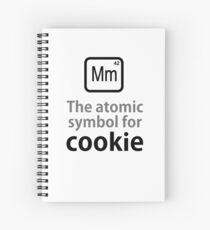 Atomic Symbol for Cookie Spiral Notebook