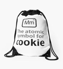 Atomic Symbol for Cookie Drawstring Bag