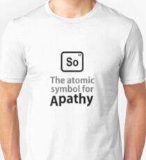 Atomic Symbol for Apathy Unisex T-Shirt