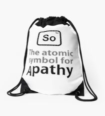 Atomic Symbol for Apathy Drawstring Bag