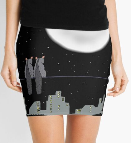Two Brushtail Possums watching Father Christmas Mini Skirt