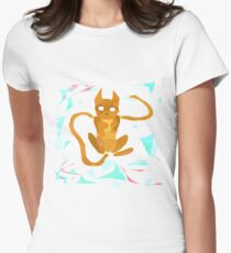 Geometry Cat Women's Fitted T-Shirt