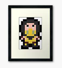 Pixel Scorpion Framed Print