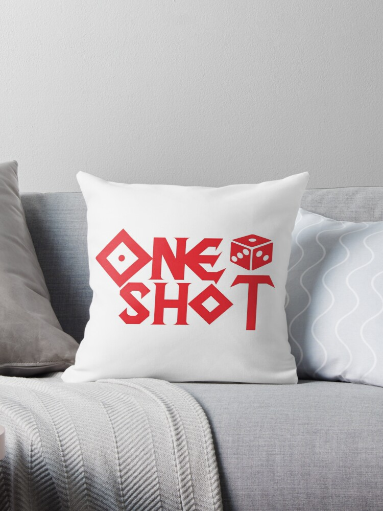 'ONE SHOT' Throw Pillow by oneshotpodcast