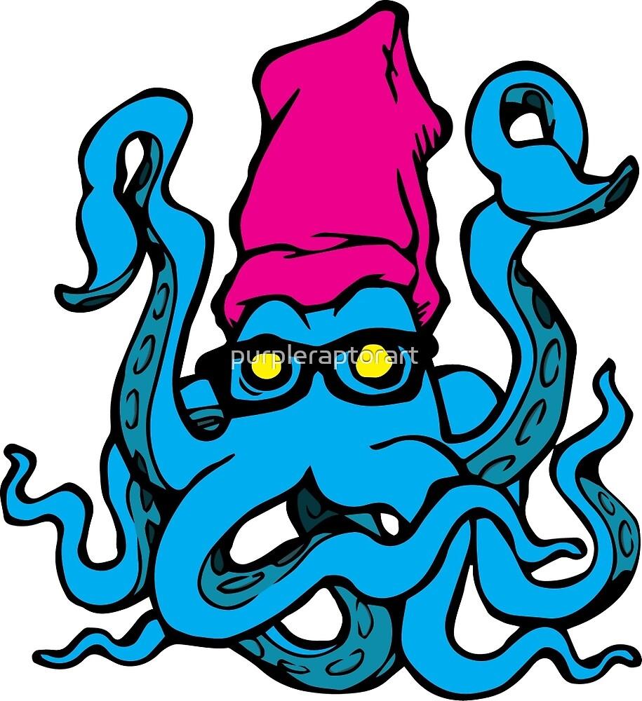 CMYK Squid by purpleraptorart