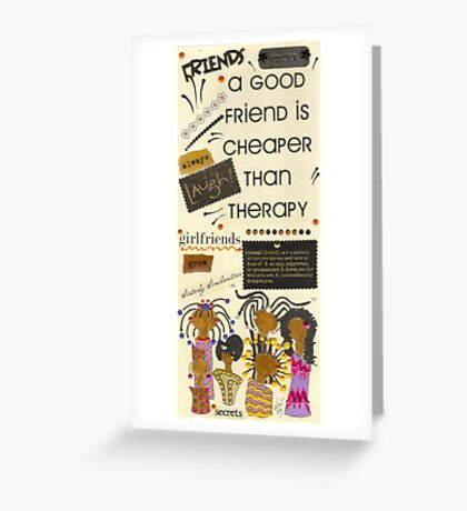 Good Friends Greeting Card