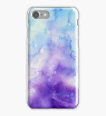 water color purple/blue iPhone Case/Skin