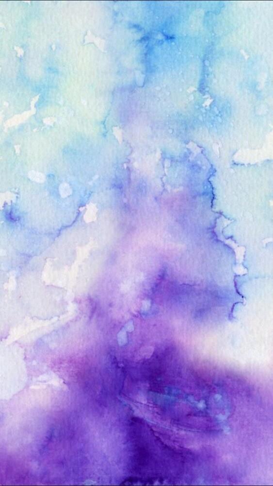 water color purple/blue by wildestkota