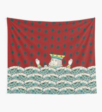 Red King Overboard Wall Tapestry