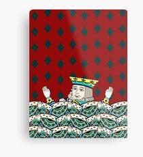 Red King Overboard Metal Print