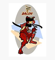 Ninja Bacon Photographic Print