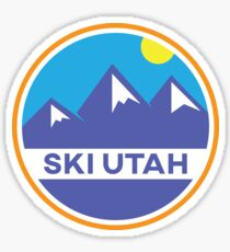 Ski Utah Badge Sticker