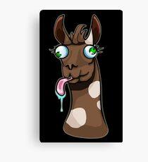 Goofy Llama Canvas Print