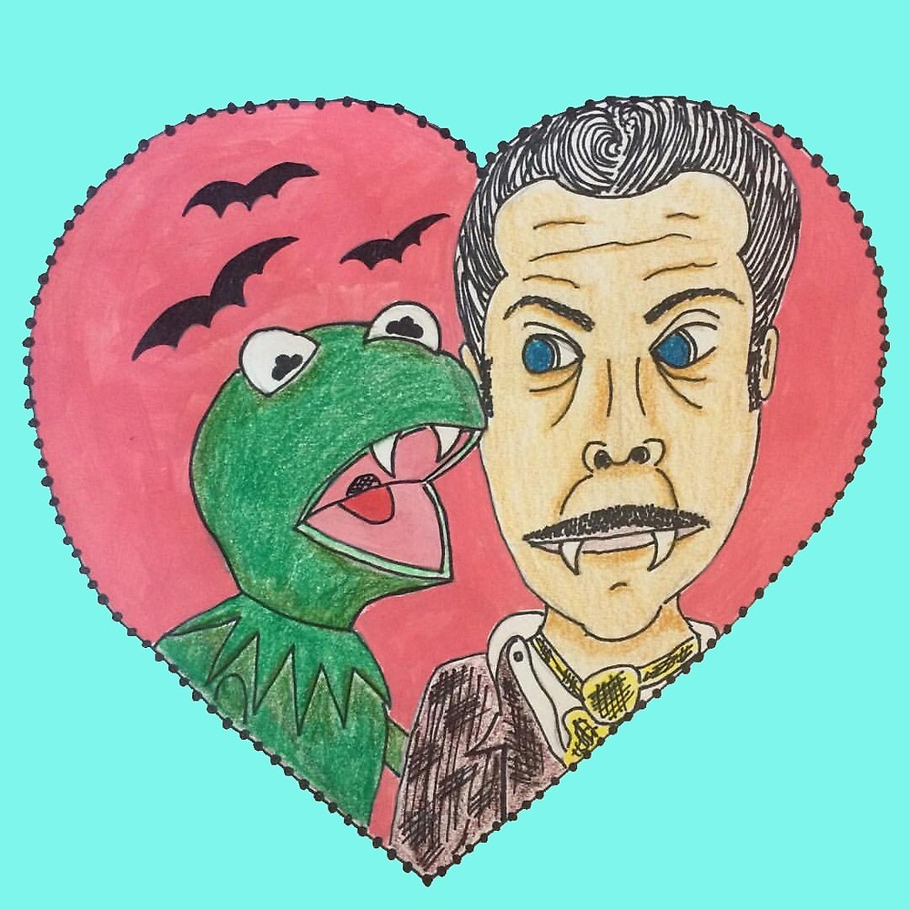 Kermit and Vincent by Decopunk
