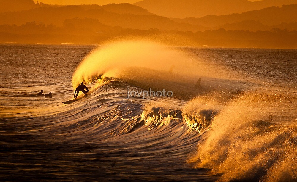 Sunset Surfing  by jovphoto