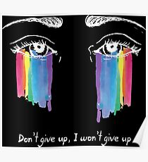 Sia the greatest - don't give up (white) Poster
