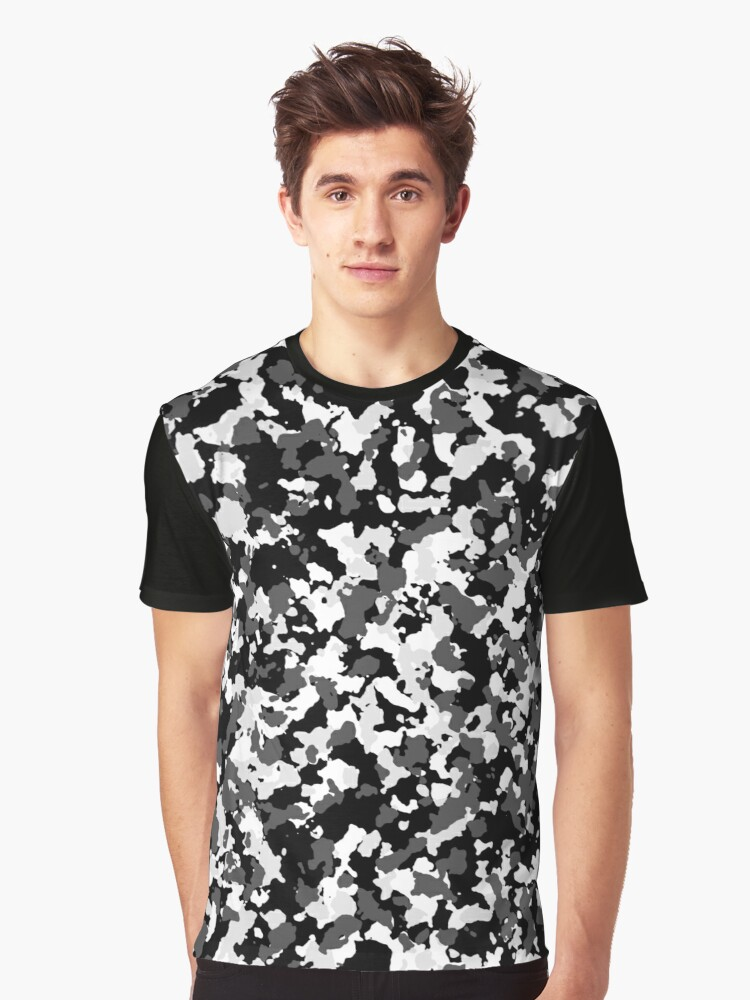 Winter camo pattern Graphic T-Shirt Front